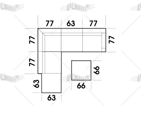 Modulo - Tavolino 66x66 - 4